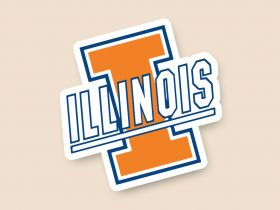Illinois Fighting Illini Cornhole Decals