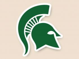 Michigan State Spartans Cornhole Decals