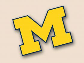 Michigan Wolverines Cornhole Decals